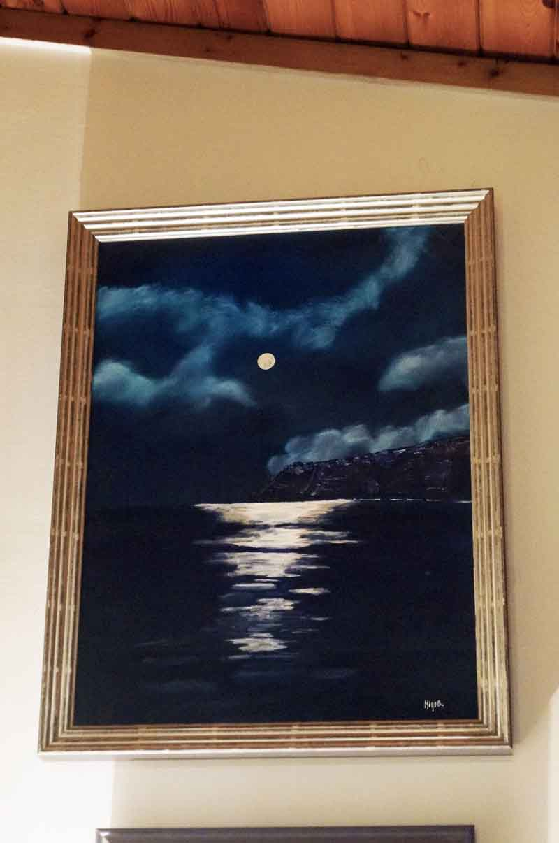 The original artwork for the 2007 Angler's Moon edition