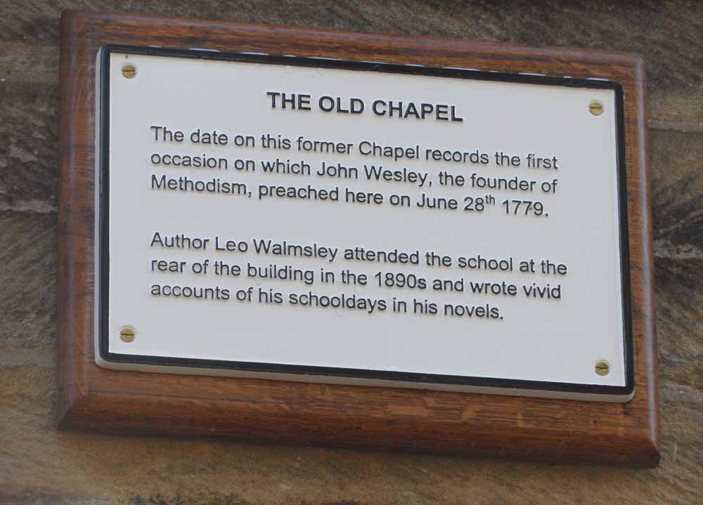 New plaque outside the old Chapel - Wesley < Walmsley