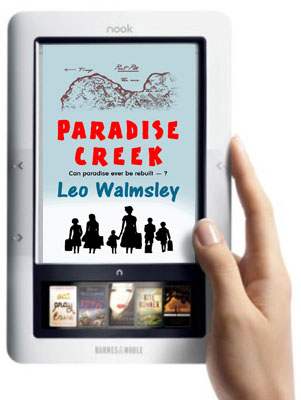 Paradise Creek on a Nook eReader