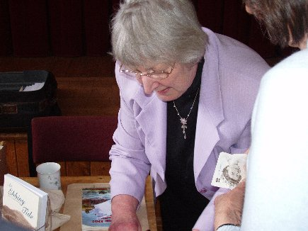 May 2007: local historian and author Pat Labistour signs copies of her books following her talk on Bay's changing economy through the ages.