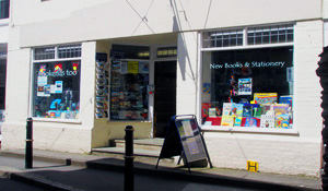 Bookends' premises on South Street, Fowey